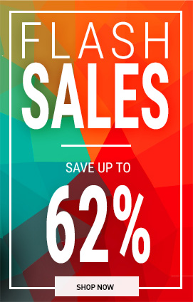 Flash sales up to  -62%