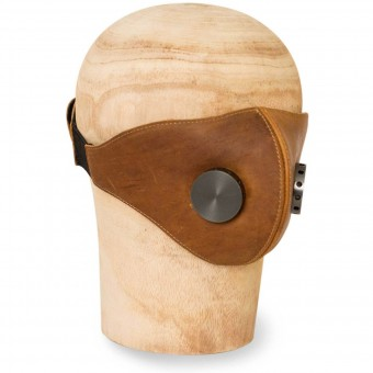 Helmet Spares HEDON Brown Hannibal Hypno Calf Leather Face Mask