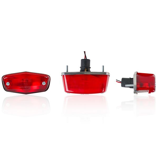 Motorcycle Lights and Headlights Chaft Back Red