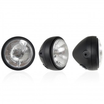 Motorcycle Lights and Headlights Chaft Glam Black