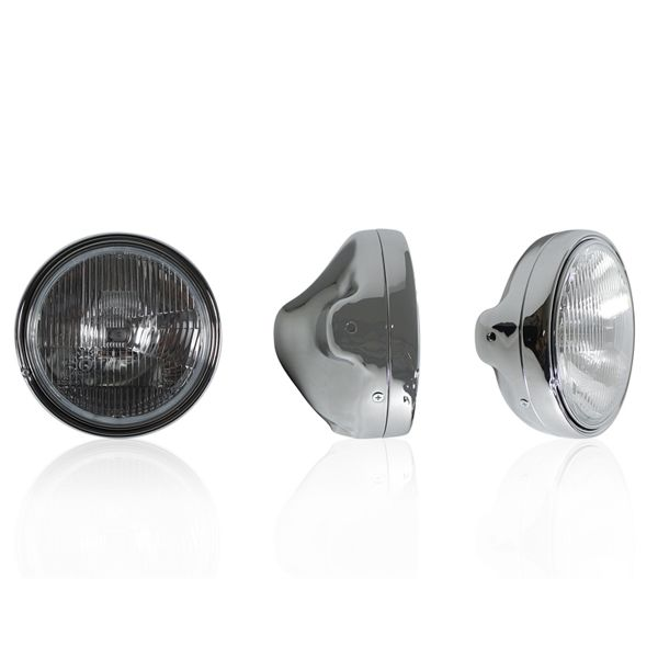 Motorcycle Lights and Headlights Chaft Medley Chrome