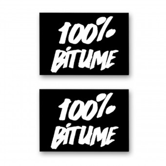 Stickers 100% Bitume Set 2 Stickers 100% Bitume 14 x 11 White