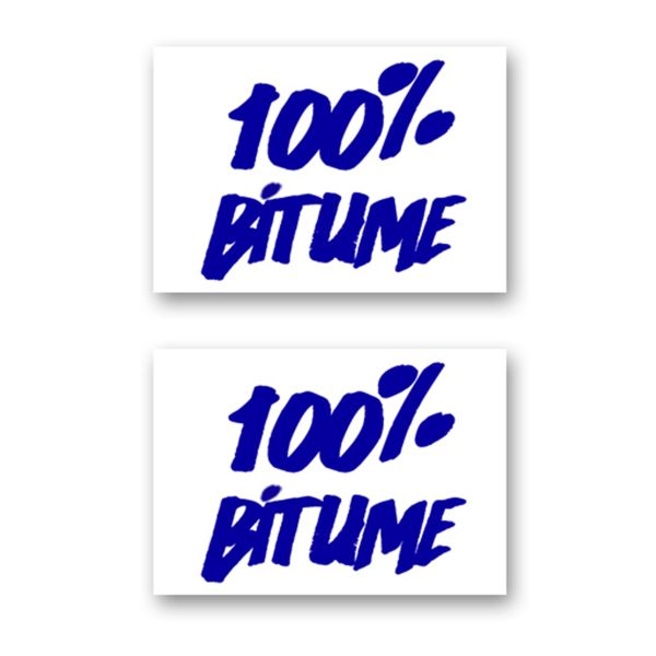 Stickers 100% Bitume Set 2 Stickers 100% Bitume 14 x 11 Blue