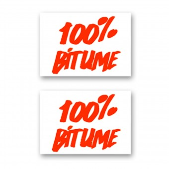 Stickers 100% Bitume Set 2 Stickers 100% Bitume 14 x 11 Fluo Orange
