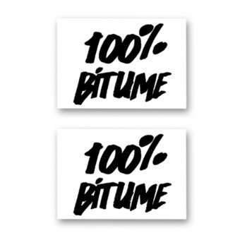 Stickers 100% Bitume Set 2 Stickers 100% Bitume 14 x 11 Black
