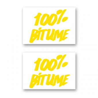 Stickers 100% Bitume Set 2 Stickers 100% Bitume 14 x 11 Yellow
