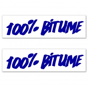 Stickers 100% Bitume Set 2 Stickers 100% Bitume 14 x 3 Blue