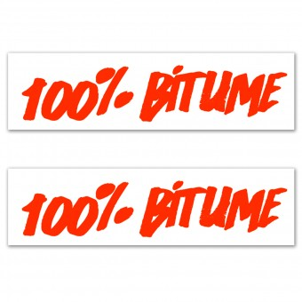 Stickers 100% Bitume Set 2 Stickers 100% Bitume 14 x 3 Fluo Orange