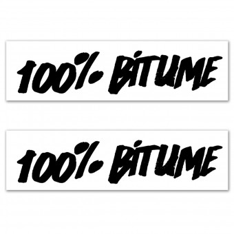 Stickers 100% Bitume Set 2 Stickers 100% Bitume 14 x 3 Black