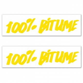 Stickers 100% Bitume Set 2 Stickers 100% Bitume 14 x 3 Yellow