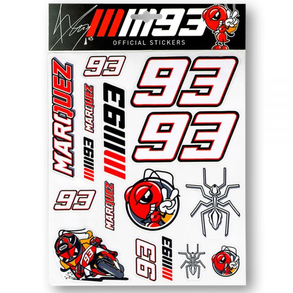 Stickers Marquez 93 Sticker Big Multicolor MM93