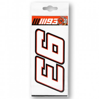 Stickers Marquez 93 Sticker Moto Multicolor MM93