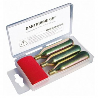 Safety Tecnoglobe 3 Cartridges CO2 TG Kit Reparation Tubeless
