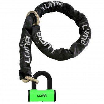 Chain and Lock Combos LUMA 115 cm Green Combo Chain Lock