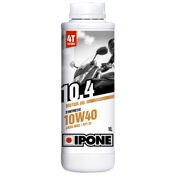 Motorcycle Oil IPONE 10.4 - 10W40 Synthetic - 1 Litre 4T