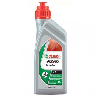 Motorcycle Oil Castrol Act Evo Scooter 2T 1 Liter