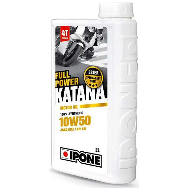Motorcycle Oil IPONE Full Power Katana - 10W50 100 % Synthetic - 2 Litre 4T