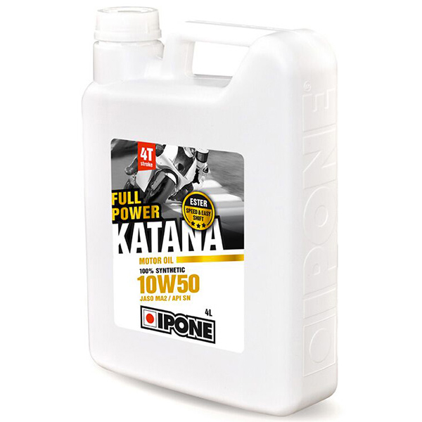 Motorcycle Oil IPONE Full Power Katana - 10W50 100 % Synthetic - 4 Litre 4T