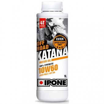 Motorcycle Oil IPONE Katana Off Road - 10W60 100 % Synthetic - 1 Litre 4T