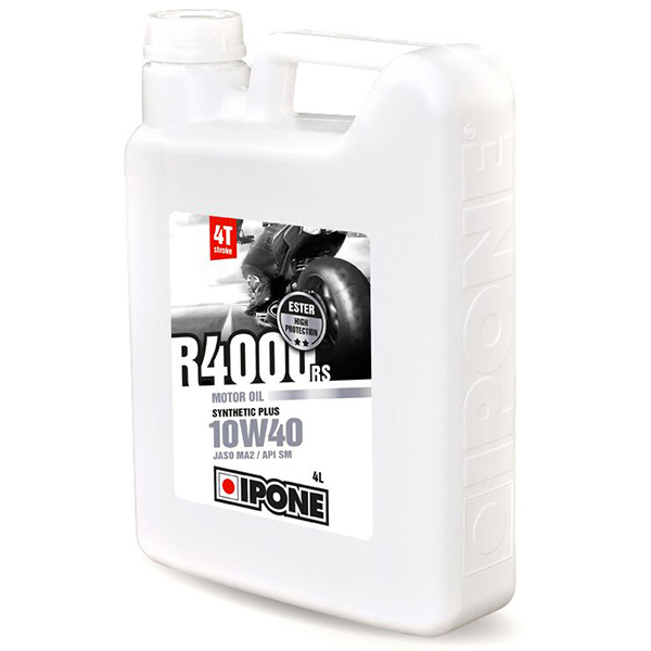 Motorcycle Oil IPONE R4000 RS - 10W40 Synthetic Plus - 4 Litre 4T