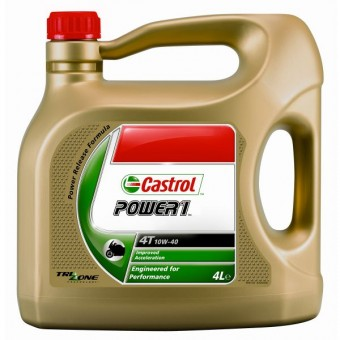 motorcycle oil castrol power 1 racing 4t 10w 40 4 liters in stock. Black Bedroom Furniture Sets. Home Design Ideas