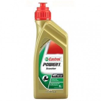 Motorcycle Oil Castrol Power 1 Scooter 4T 5W-40 1 Liter