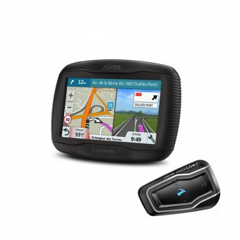 GPS - Navigation Garmin Zumo 395 Travel Edition et Scala Rider Freecom 2