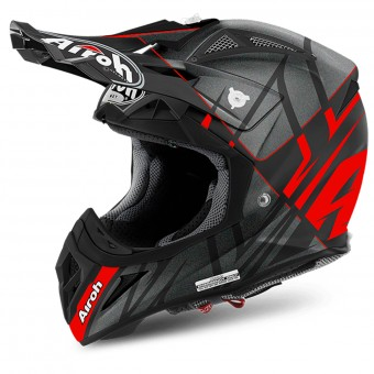 Casque Motocross Airoh Aviator 2.2 Warning Red