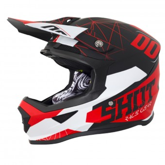 Casque Motocross SHOT Furious Spectre Black Red Matt