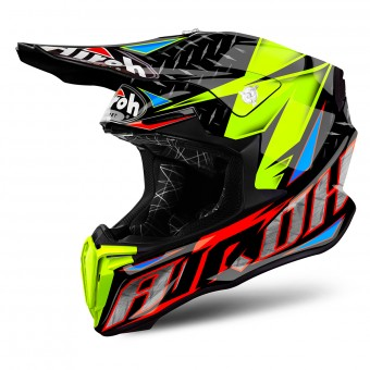 Casque Motocross Airoh Twist Iron Orange