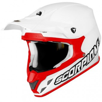 Casque Motocross Scorpion VX-20 Air White Red