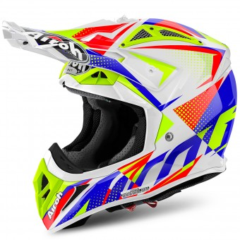 Casque Motocross Airoh Aviator 2.2 Flash White