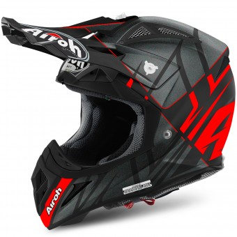 Casque Motocross Airoh Aviator 2.2 Styling Red Matt