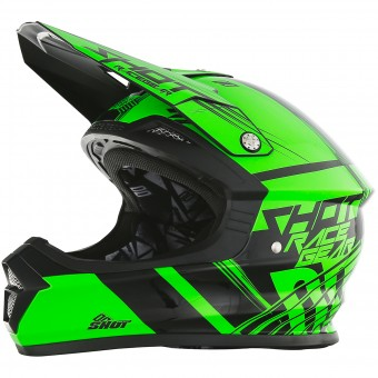 Casque Motocross SHOT Furious Claw Neon Green