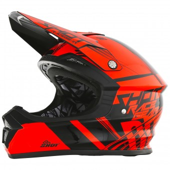 Casque Motocross SHOT Furious Claw Neon Orange