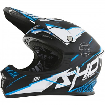 Casque Motocross SHOT Furious Infinity Blue Matt