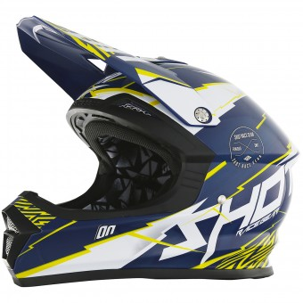 Casque Motocross SHOT Furious Infinity Blue Yellow