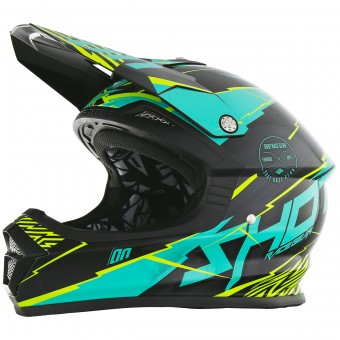 Casque Motocross SHOT Furious Infinity Mint Lime