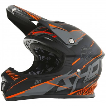 Casque Motocross SHOT Furious Infinity Neon Orange Grey Matt