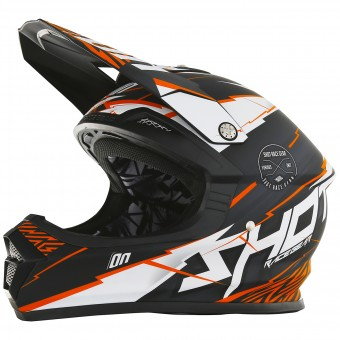 Casque Motocross SHOT Furious Infinity Orange Matt