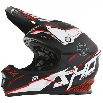Casque Motocross SHOT Furious Infinity Red Matt