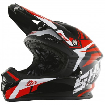 Casque Motocross SHOT Furious Squad Red
