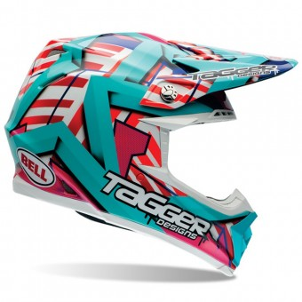 Casque Motocross Bell Moto-9 Tagger Trouble