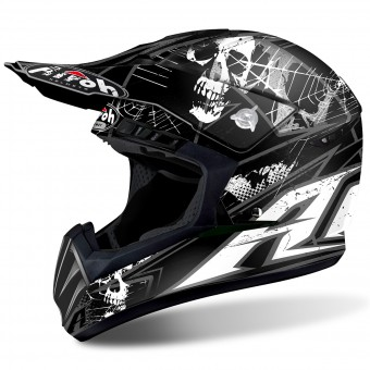 Casque Motocross Airoh Switch Scary Black Matt