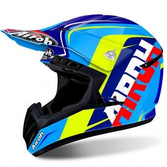 Casque Motocross Airoh Switch Sign Blue