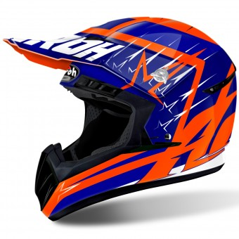 Casque Motocross Airoh Switch Startruck Blue