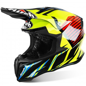Casque Motocross Airoh Twist Strange Blue