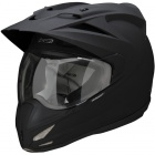 Casque Motocross ICON Variant Solid Black Rubatone