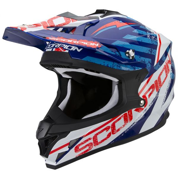 Motocross Scorpion VX-15 Evo Air Gamma Blue White