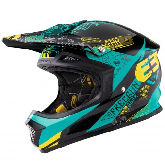 Casque Motocross Freegun XP-4 Bandana Mint Lime